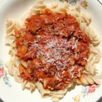 Saving Dinner – Rotini Pasta with Fresh Tomato Sauce