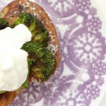 Roasted Broccoli Topped Baked Potatoes