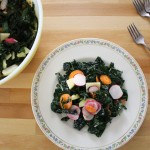 Massaged Kale Salad with Radish and Apple