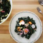 Massaged Kale Salad with Radish and Apple