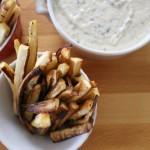 Parsnip Fries with Dip