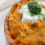 Spicy Twice Baked Sweet Potatoes