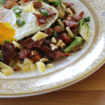 Turnip Hash with Bacon and Gouda