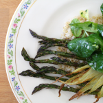 Roasted Fennel and Asparagus with Mâche and Lemon Vinaigrette