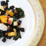 Warm Beet Salad with Fruit and Nuts