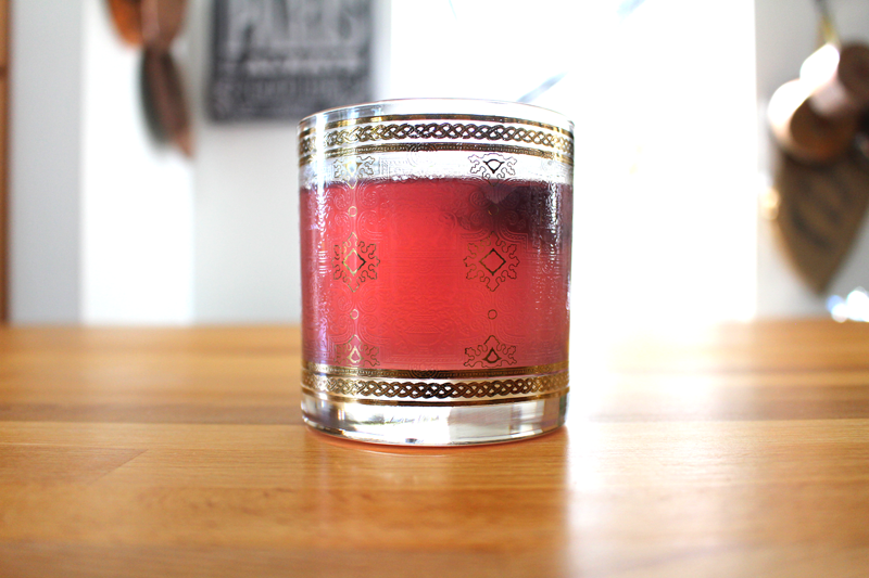 Pomegranate and Purple Basil Iced Tea