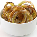 Baked Onion Rings with Herb Dip