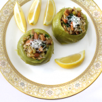 Kohlrabi Stuffed with Cabbage and Apple